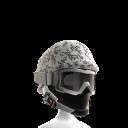 Arctic Camo Helmet with Goggles