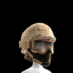Desert Camo Helmet with Goggles