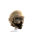Desert Camo Helmet with Goggles
