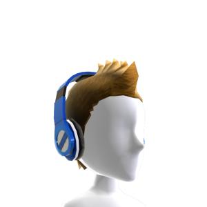 Fauxhawk with Headphones - Blue