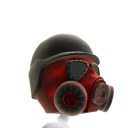 Gas Mask Red 2 Helmet