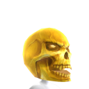 Horror Gold Skull Head