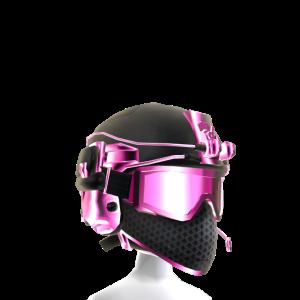 Battle Helmet - Pink Black