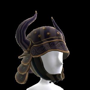 Casque de samouraï noir à cornes