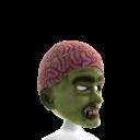 Zombie Mask with Brain Skullcap Hat