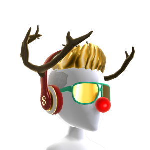 Reindeer Fresh Hair and Headphones