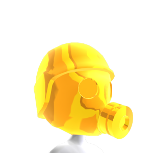 Epic Brite Gold Gas Mask 1