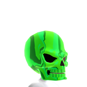 Epic Skull Helmet Green Chrome