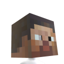 Minecraft Steve hoved 