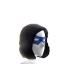 Blue Hooded Domino Mask