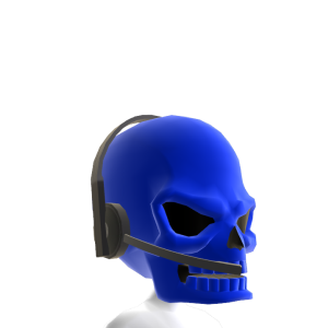 Blue Gamer Skull Helmet
