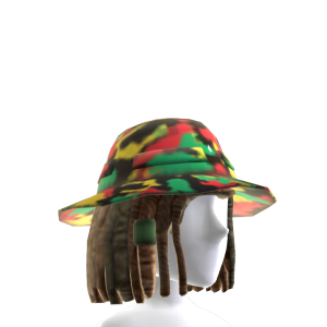 Rasta Camo Bucket Hat