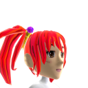 Anime Pigtails Red Chrome