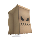Angry Paper Bag Head