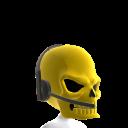 Gold Gamer Skull Helmet