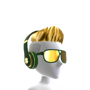 Bling St. Patty's Headphones and Hair