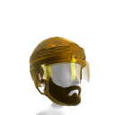 Playoff Beard with Gold Helmet
