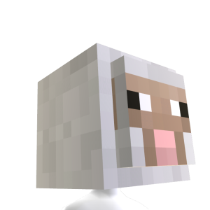 Minecraft Sheep Head
