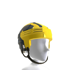 Michigan Hockey Helmet