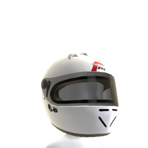 FM4 White Racing Helmet