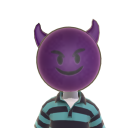 Purple Devil Face