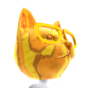 Cat with Glasses Gold