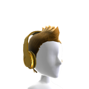Fauxhawk with Headphones - Gold