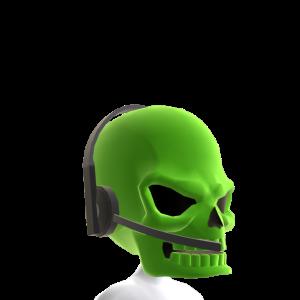 Green Gamer Skull Helmet
