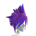 Anime Hero Hair - Purple