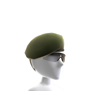 Beret and Sunglasses - Green