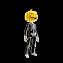 Epic Blk Skeleton Suit Chrm Pumpkin