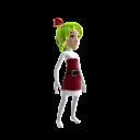 Anime Xmas Green Bow