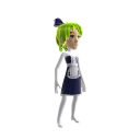 Anime Maid Green