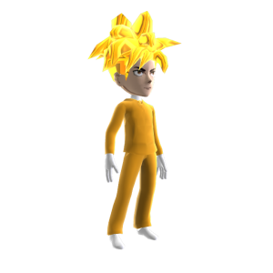 Anime Hero Suit Gold 2