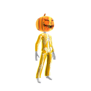 Epic Gold Skeleton Suit Org Pumpkin
