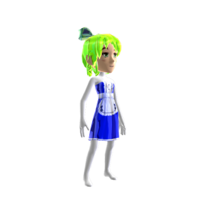 Anime Chrome Maid Blue Green