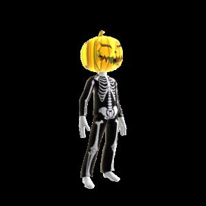 Halloween Skull Suit Pumpkin