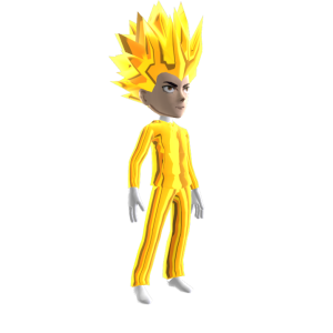 Anime Hero Suit Gold Chrome