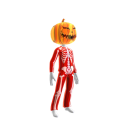 Epic Red Skeleton Suit Org Pumpkin
