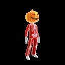 Epic Red Skeleton Suit Org Pumpkin
