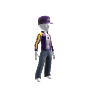 LSU Track Jacket and Hat