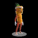 Fato de mascote cenoura