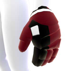 Cinnabar with Black and White Trim Hockey Gloves