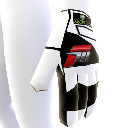 White Racing Glove