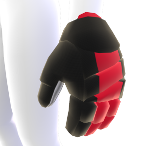 Black with Crimson Trim Hockey Gloves