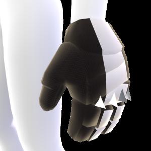 Spiked Hockey Gloves - Black