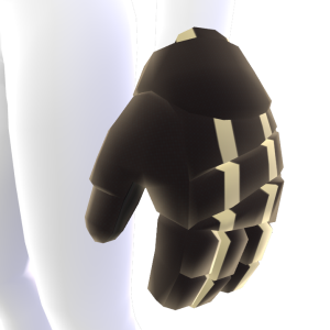 Black with Tan Trim Hockey Gloves