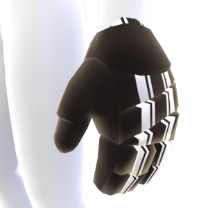 Black with Patterned White Trim Hockey Gloves