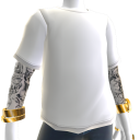 Bling Tee and Tattoos - White