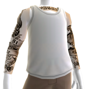 White Tank With Tattoos